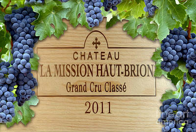 Napa Valley Photograph - Chateau Haut Brion by Jon Neidert