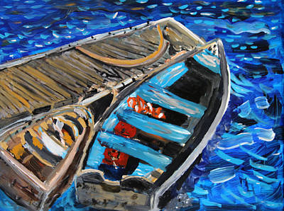 Chatham Harbor Painting - Chatham Blue by Michael Helfen