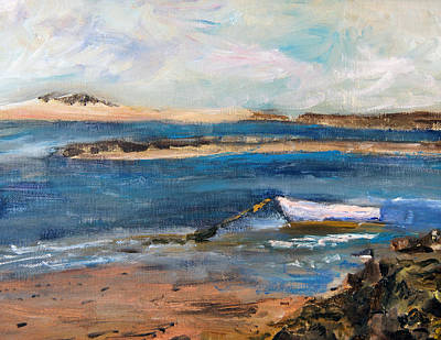 Chatham Painting - Chatham Boat In The Cove by Michael Helfen