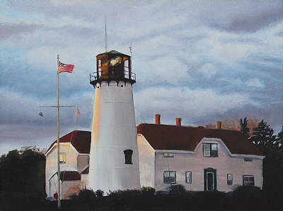 New England Lighthouse Painting - Chatham Lighthouse by Sue Birkenshaw