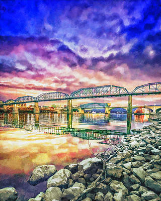 Chattanooga Reflection 1 Print by Steven Llorca
