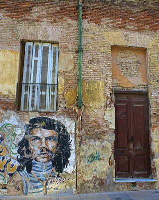 Che Guavara Street Art In San Telmo Print by Venetia Featherstone-Witty