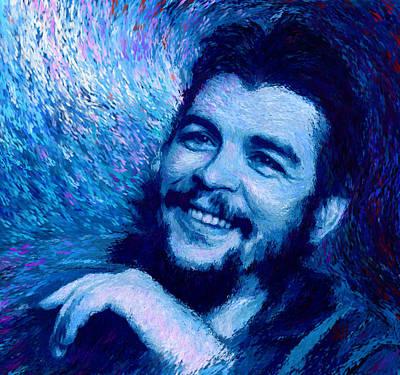 Che Guevara Blue Print by Shubnum Gill