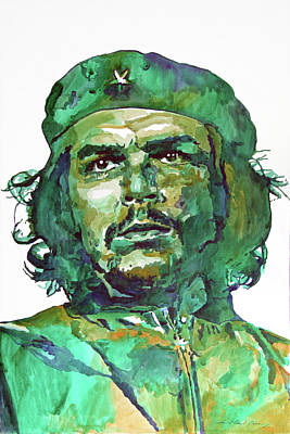 Popular People Painting - Che Guevara by David Lloyd Glover