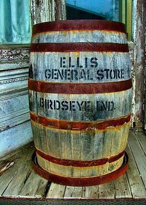 Rusted Barrels Photograph - Cheap Advertisement by Julie Dant
