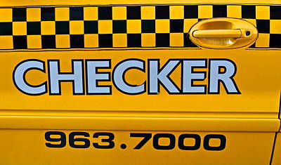 Checker Cab Photograph - Checker Cab by Frozen in Time Fine Art Photography