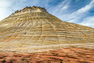 Zion National Park Photograph - Checkerboard Mesa Zion Utah by Pierre Leclerc Photography