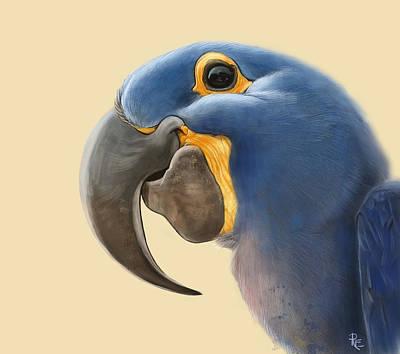 Yellow Beak Painting - Cheeky Parrot by Arie Van der Wijst