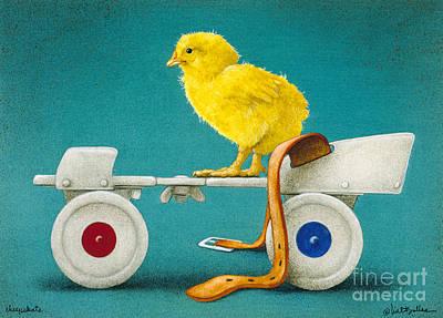Humor. Painting - Cheepskate... by Will Bullas
