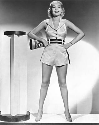 Cheerleader Betty Grable Print by Underwood Archives