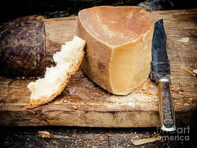 Cheese Knife  Bread Print by Silvia Ganora