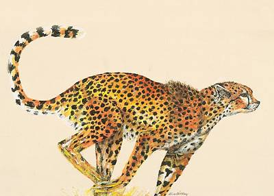 Cheetah Painting Print by Lisa Bentley