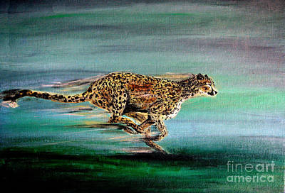 Cheetah Painting - Cheetah Run 2 by Nick Gustafson