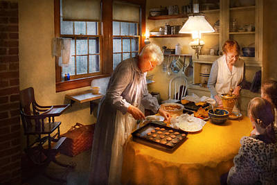 Chef - Kitchen - Coming Home For The Holidays Print by Mike Savad