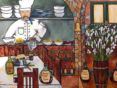 Chef On Line Print by Patti Schermerhorn