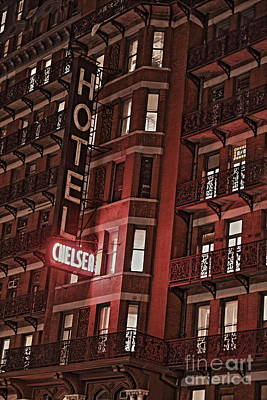 Chelsea Hotel Print by David Rucker