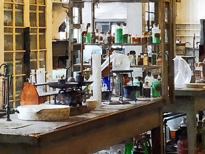 Scientists Photograph - Chem Lab by Susan Savad