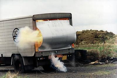 Chemical Safety Explosion Test Print by Crown Copyright/health & Safety Laboratory Science Photo Library