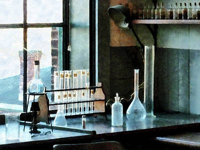 Glasses Photograph - Chemist - Glassware In Lab by Susan Savad