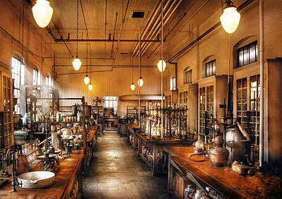 Chemist - The Chem Lab Print by Mike Savad