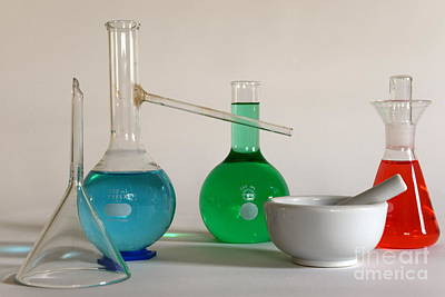Chemistry Class Print by Paul Ward