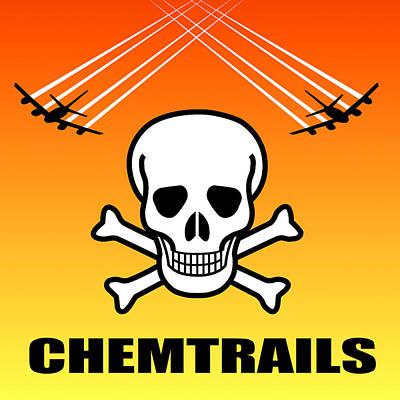 Conspiracy Digital Art - Chemtrail Hazard by Daniel Hagerman