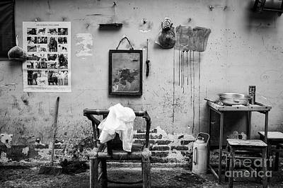 Dogs Photograph - Chengdu Street Barber by Dean Harte