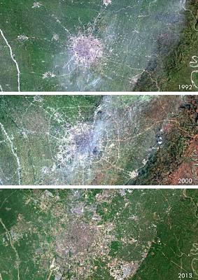 Chengdu Urban Spread Print by Planetobserver