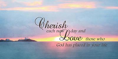 Cherish Love Print by Lori Deiter