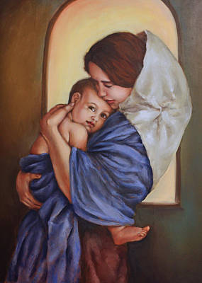 Jesus Christ Icon Painting - Cherished by Julia Doffing