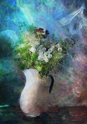 Cherished Rose From Summer Print by Georgiana Romanovna