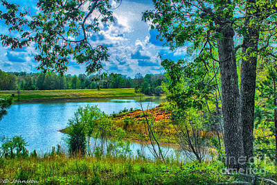 Cherokee Lake Tennessee  Print by Bob and Nadine Johnston