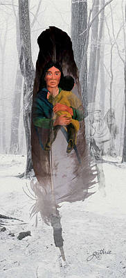 Mixed Media - Cherokee Mother by John Guthrie