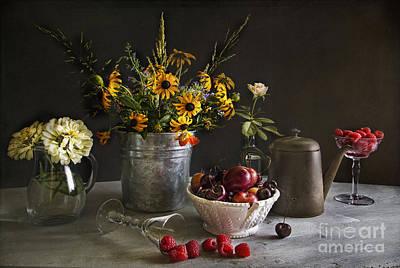 Zinnias Photograph - Cherries And Berries by Elena Nosyreva