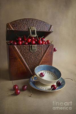 Cherries In The Box Print by Elena Nosyreva