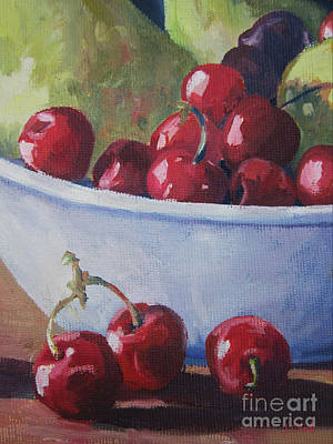 Cherries Print by John Clark