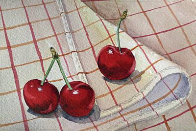 Cherry Talk By Irina Sztukowski Print by Irina Sztukowski