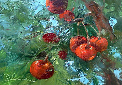 Painting - Cherries by Tina Bohlman