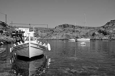 Boat Photograph - Cherronisos Bay In Sifnos Island by George Atsametakis