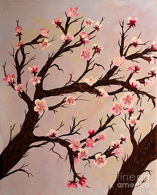 Cherry Blossom 1 Print by Barbara Griffin
