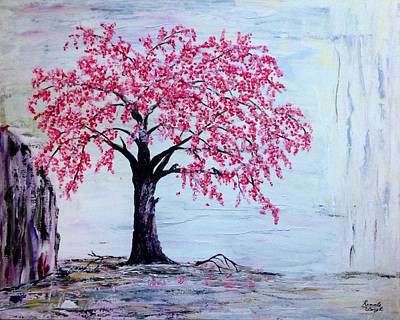 Cherry Blossom  Print by Renate Voigt