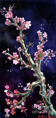 Cherry Blossoms Painting - Cherry Blossoms by Eve McCauley