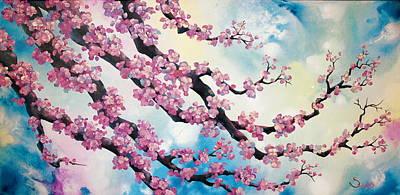 Sakura Painting - Cherry Blossoms by Shiela Gosselin