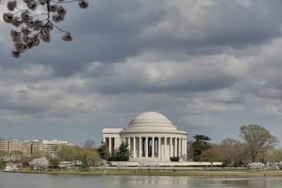 Petals Photograph - Cherry Blossoms With Jefferson Memorial - Washington Dc - 011339 by DC Photographer