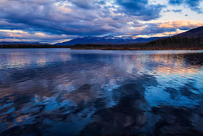 Mountain View Photograph - Cherry Pond Cloud Reflections by Jeff Sinon