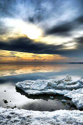 Chesapeake Bay Photograph - Chesapeake Bay Winter by Olivier Le Queinec