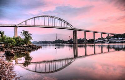 Chesapeake City Pink Print by JC Findley