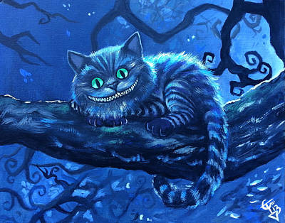 Alice In Wonderland Painting - Cheshire Cat by Tom Carlton
