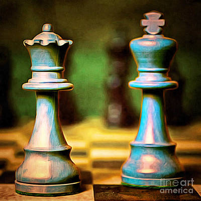 Chess King And Queen 20140918brunaille Print by Wingsdomain Art and Photography
