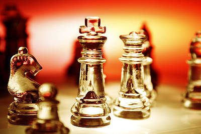 Chessmen Photograph - Chess by Les Cunliffe